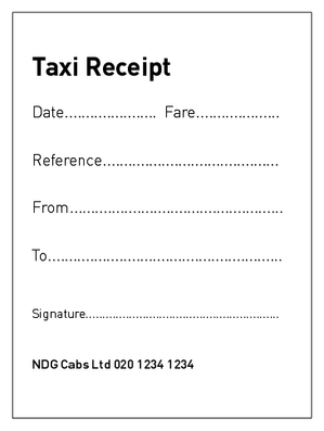 Taxi bill receipts pinterest taxi bill pronofoot35fo Image collections