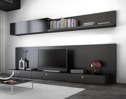 modular-moderno-rack-panel-tv-lcd-living  Televisores  Pinterest  Modulare...