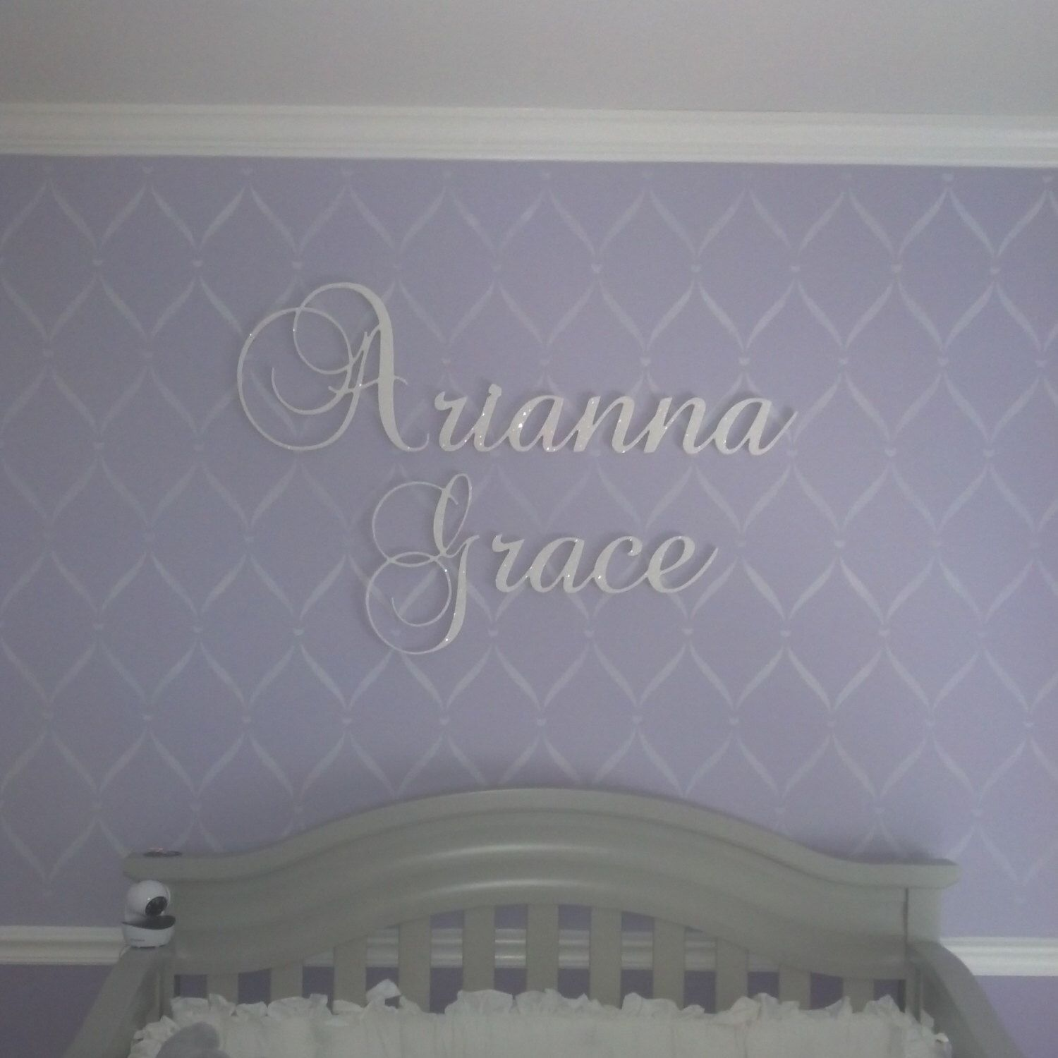 Wall Letters - Nursery Name - Personalized Connected Letters ...