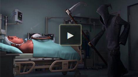 Der Tod im Krankenhaus und schon wieder geht bei dem Tollpatsch wieder mal alles Schief. Er ist aber auch ein kleiner Schussel! Sehr lustig gemacht!