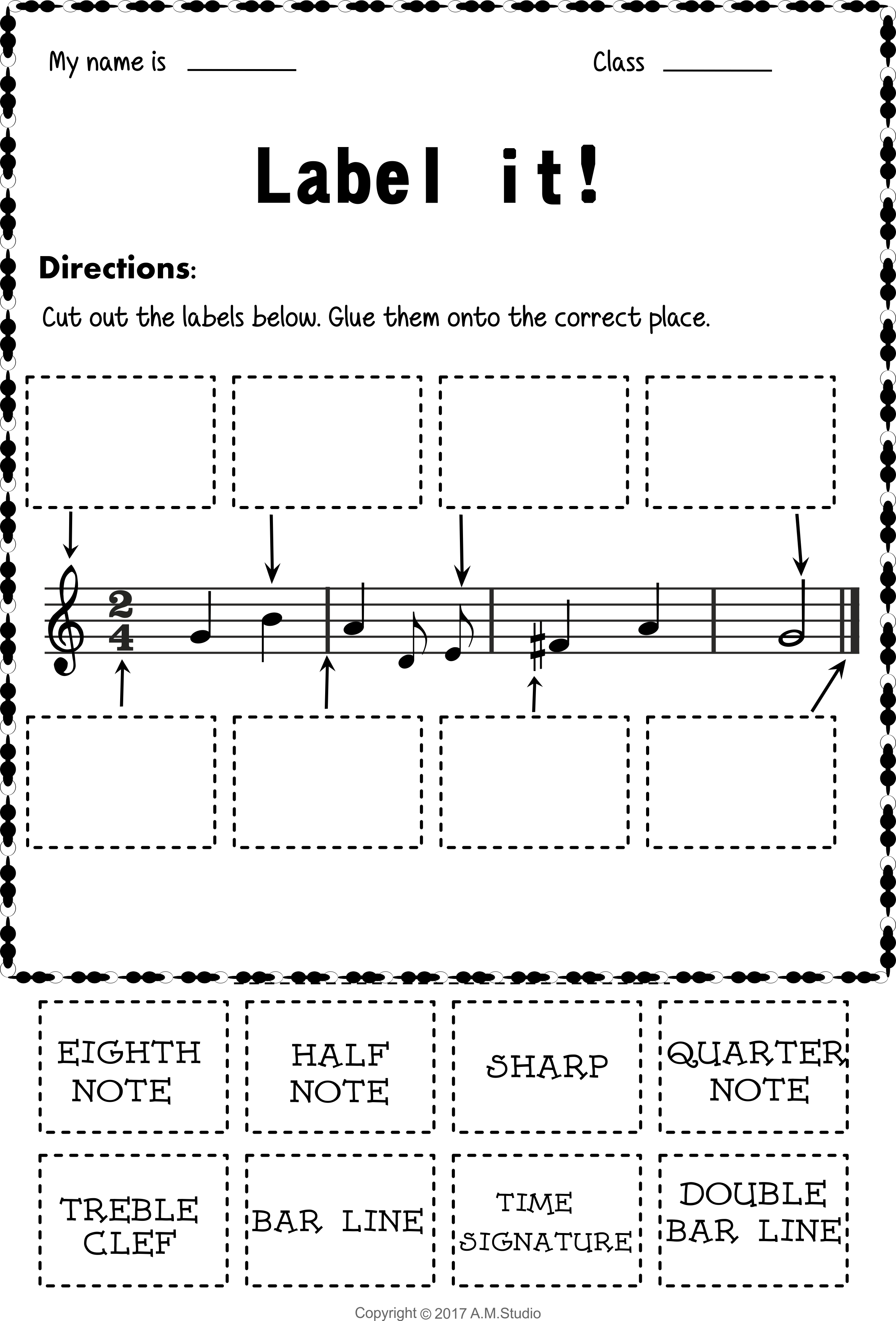 Let S Learn The Music Symbols No Prep Printables Bundle