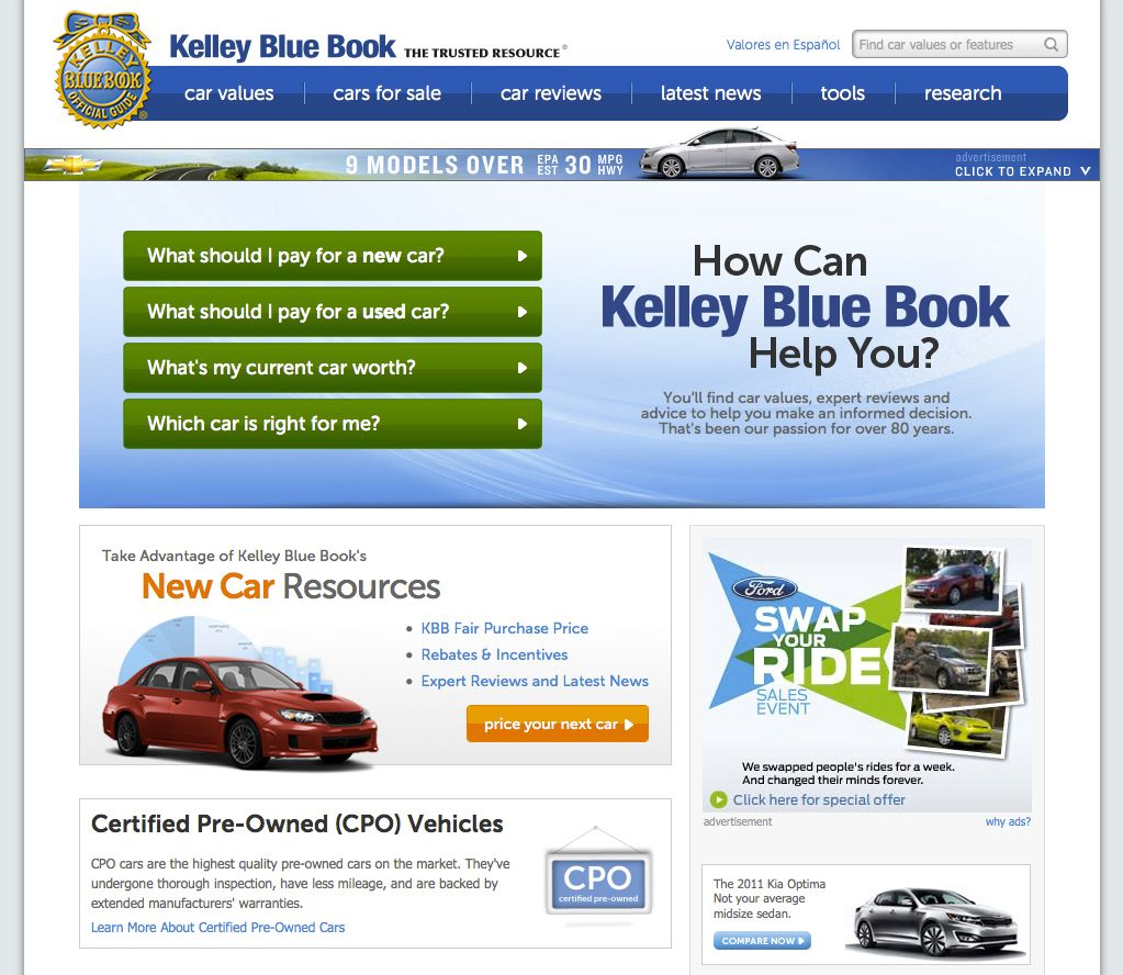 Blue Book Values For Used Cars