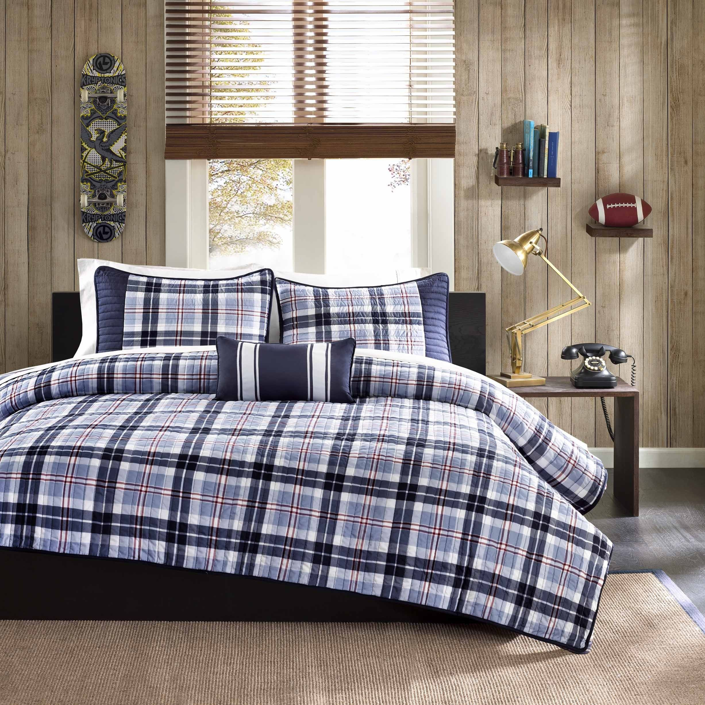 Plaid teen bedding apologise, but