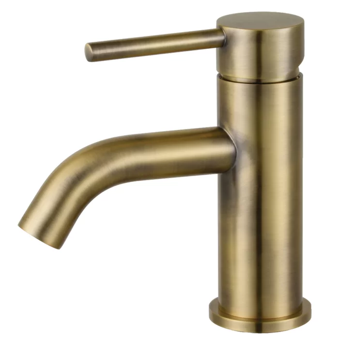 Kingston Brass Concord Single Hole Bathroom Faucet With Drain Assembly Reviews W In 2020 Single Hole Bathroom Faucet Antique Brass Bathroom Faucet Bathroom Faucets