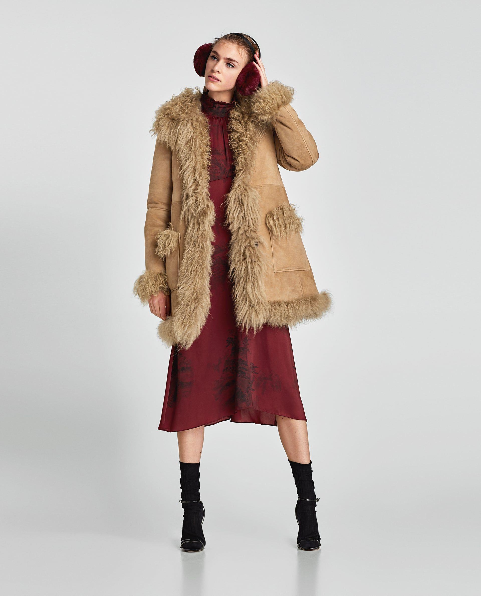 Image 1 of SHEEPSKIN COAT from Zara Coat, Sheepskin coat