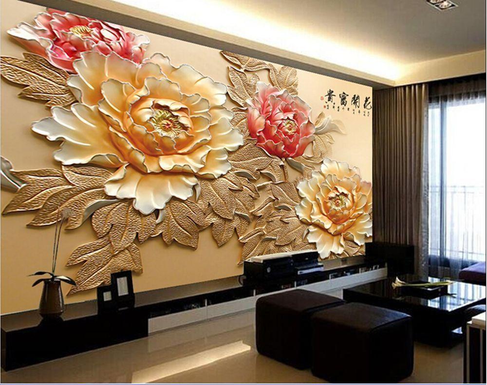Best 3D Wallpaper Bedroom Roll Modern Luxury Embossed Mural 400 x 300