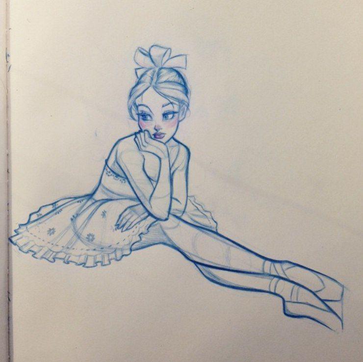 Dancerdrawingcartoon Girl Drawing Sketches Dancing Drawings Drawing Sketches