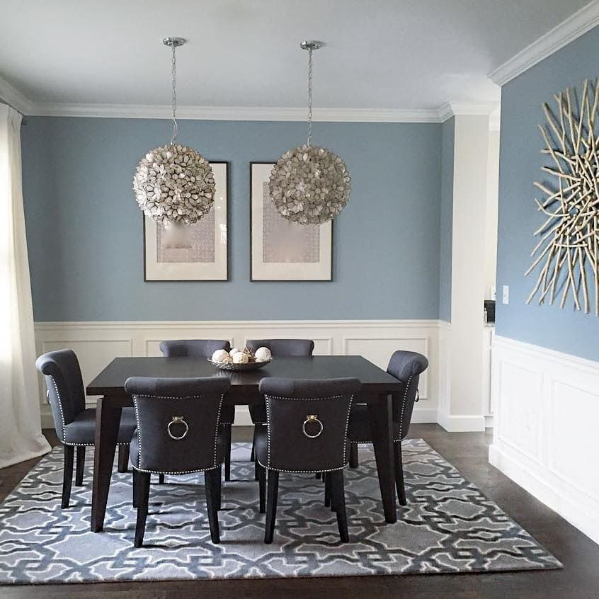 Dining Room Paint Schemes: Benjamin Moore Nimbus Grey Dining Room