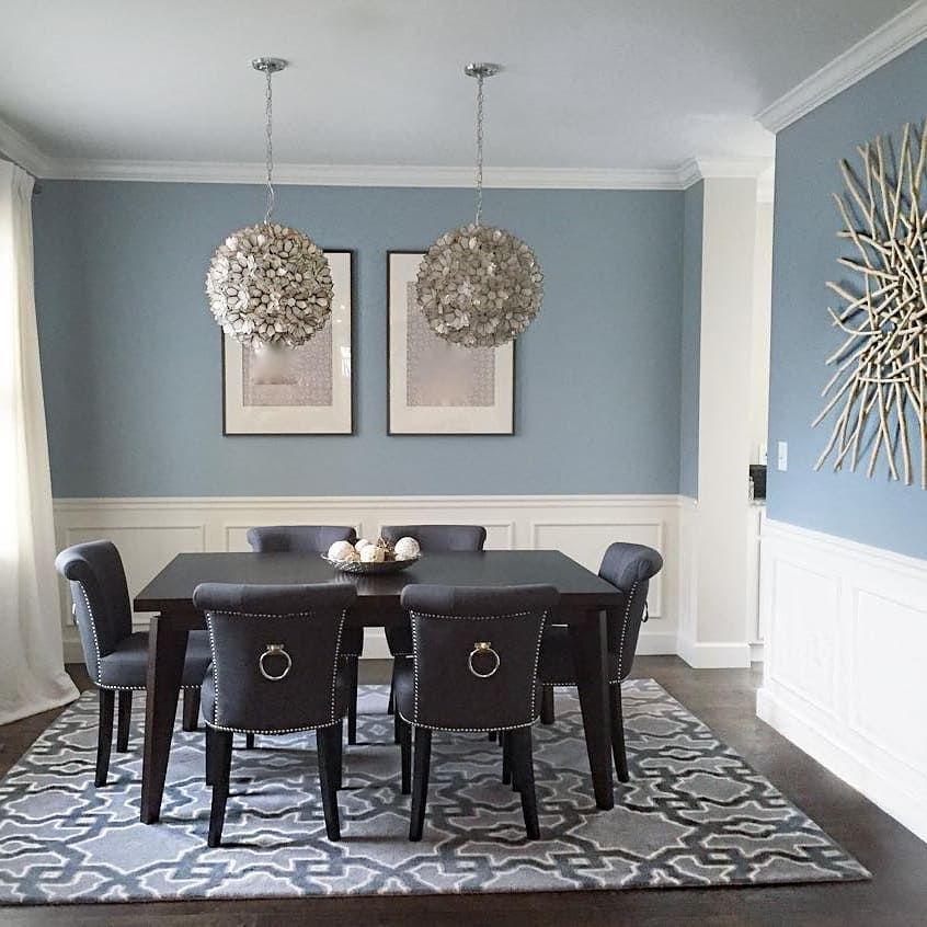 Benjamin Moore Nimbus Grey Dining Room Dining Room Blue Dining
