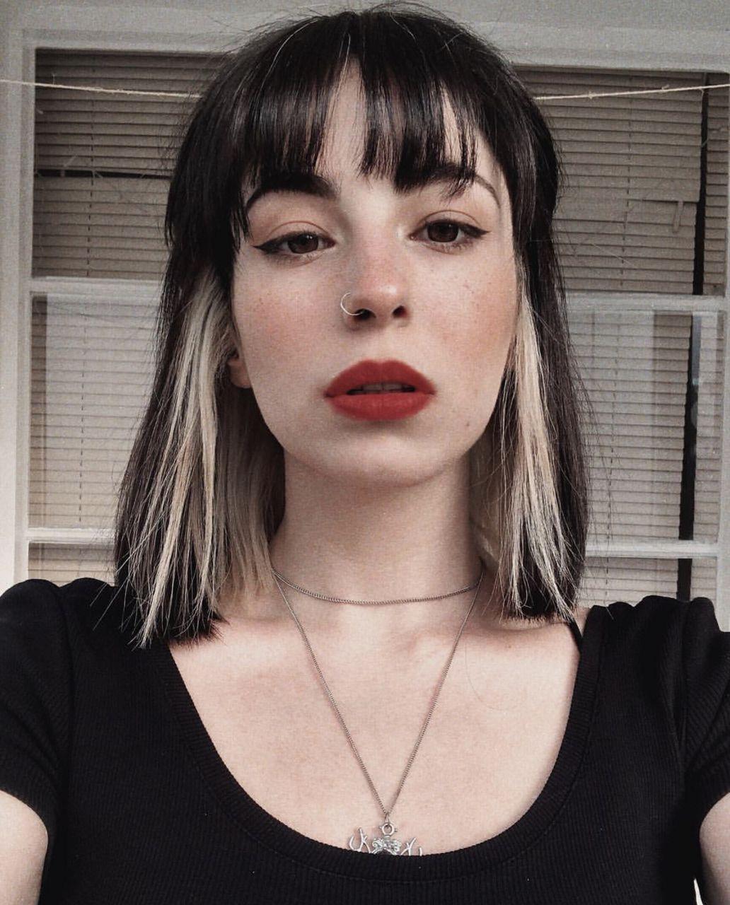 Pin on Hair Inspo ( Curly, brunette, grunge, bangs )
