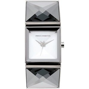 FCUK  FC1007S Ladies Silver Steel Square Watch