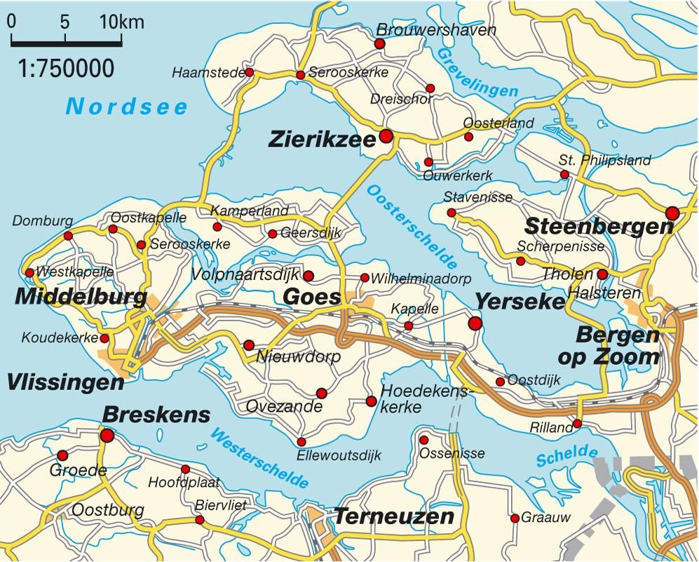 Bundeslandkarte Zeeland 7475 Jpg 997 801 Nordsee Karten Bundesland