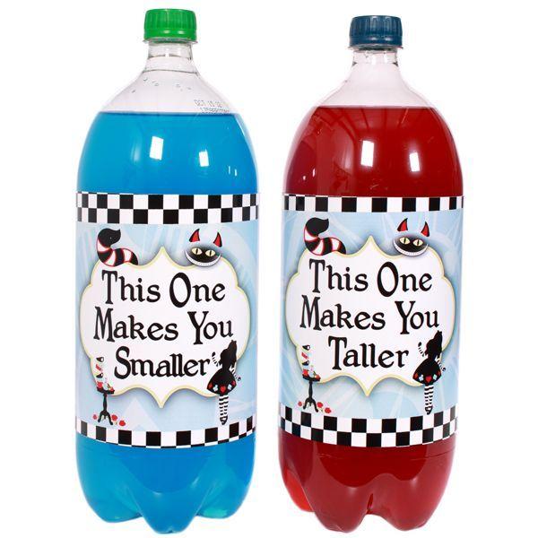 Large Baby Bottle Decoration Alice In Wonderland Large Bottle Labels  Mad Hatter Tea Party