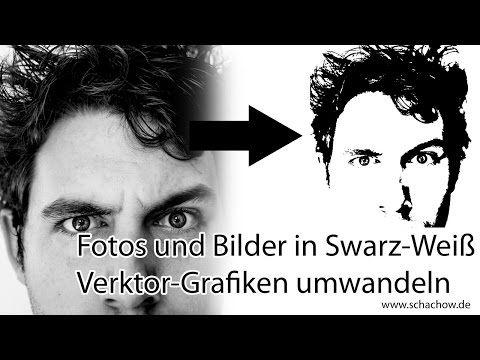 bilder und fotos in schwarz weiss vektor grafiken umwandeln youtube vektorgrafik erstellen scherenschnitt bäume gehirn