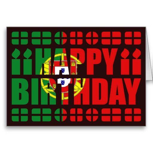 Portugal Flag Birthday Card Zazzle Com Birthday Wishes Cards Portugal Flag Birthday Cards