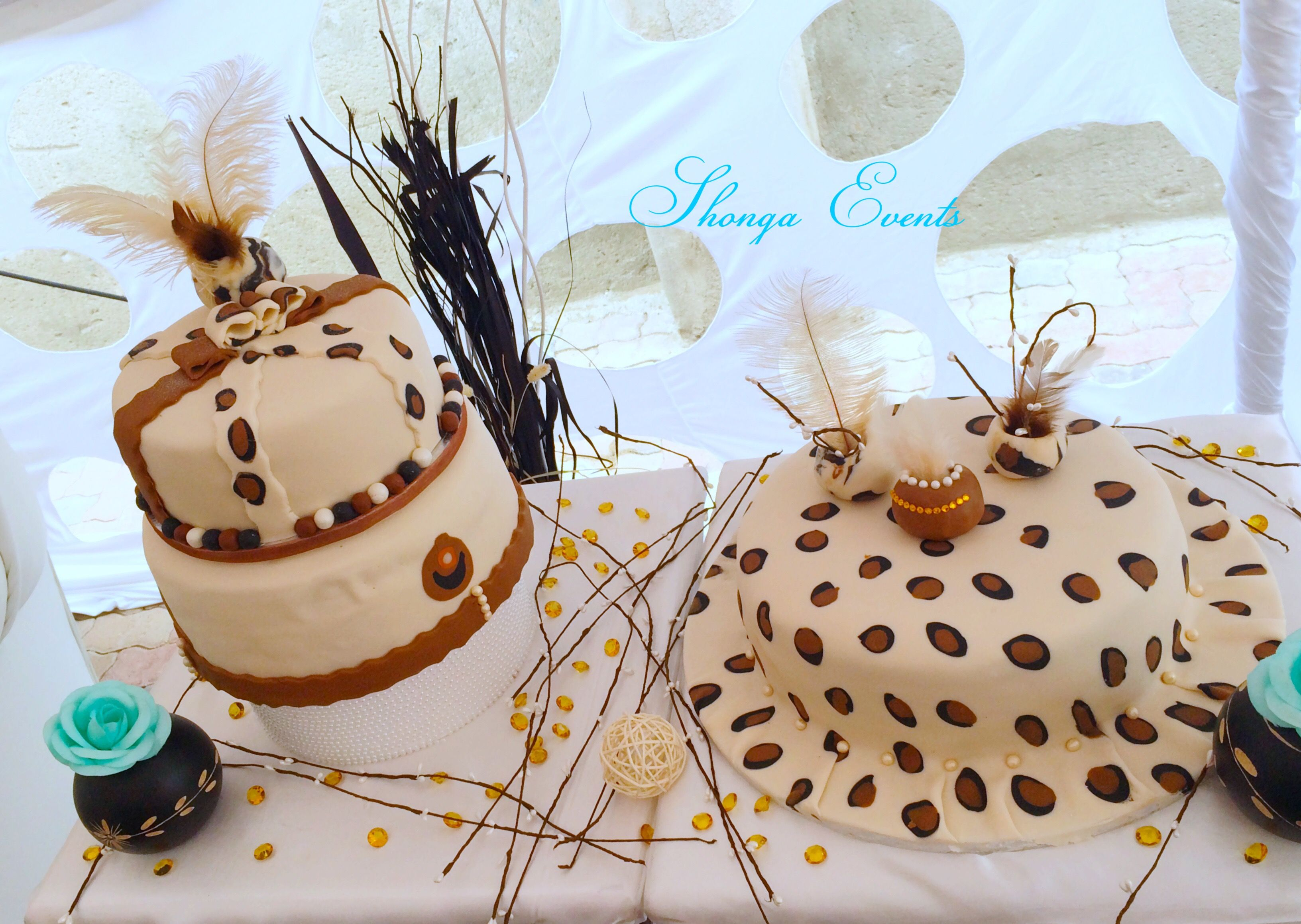 leopard skin cake for a traditional wedding by shonga