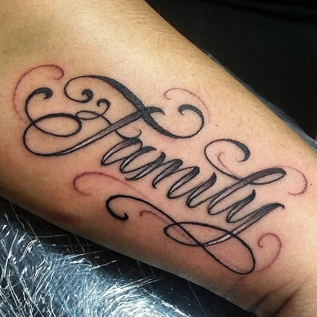 100 Tattoo Lettering Designs For Your Body Art: Letras #cursive #script #letters #artnink #tattoo #AI @art