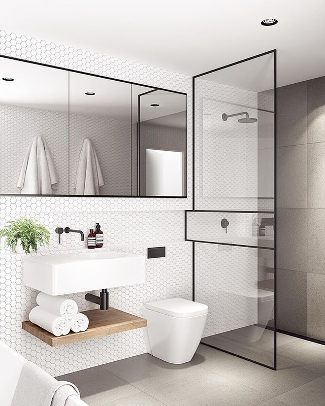 A Slim Black Shower Frame With A Significant Point Of Difference