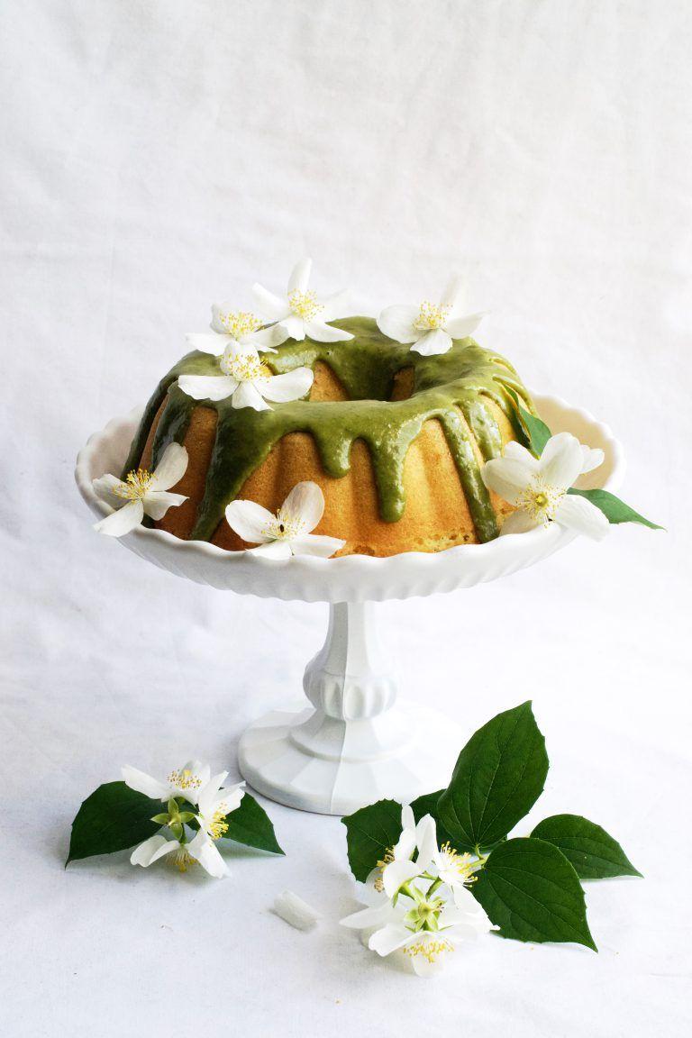 Gâteau Au Citron Glaçage Au Basilic Lemon Bundt Cake With Basil