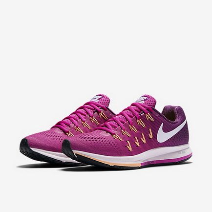 64f755c888c35 Nike Air Zoom Pegasus 33 Fire Pink Bright Grape Peach Cream White 831356 602