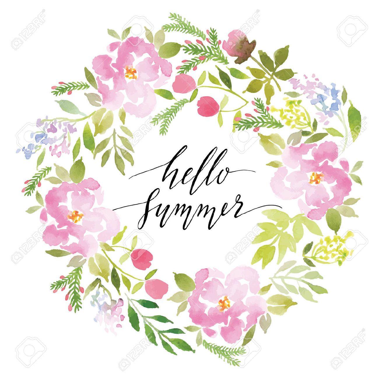 39574823 watercolor greeting card flowers handmade congratulations watercolor greeting card flowers vector image on vectorstock kristyandbryce Images