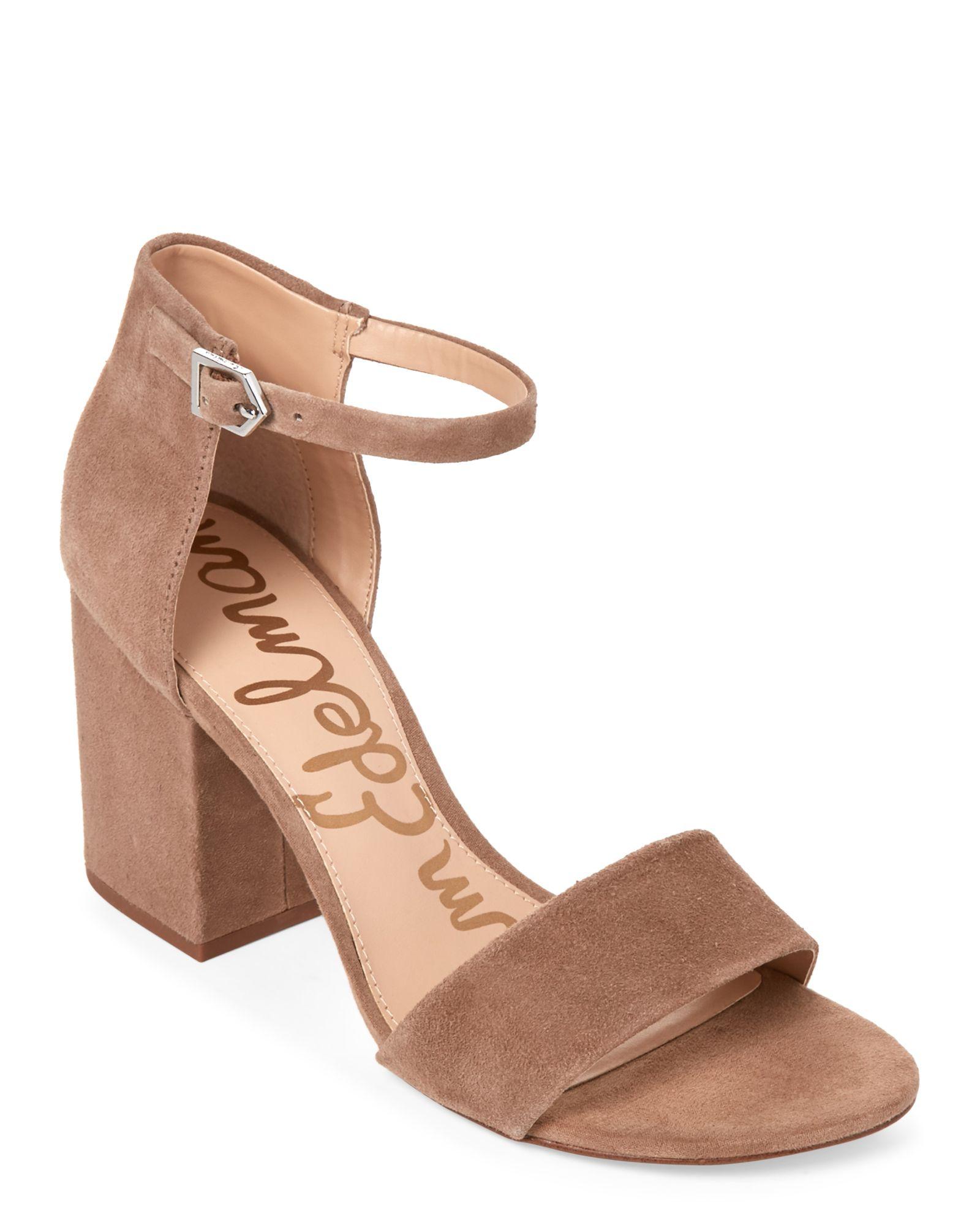 cbca984c56f9 Sam Edelman Oatmeal Torrence Two-Piece Block Heel Sandals ...
