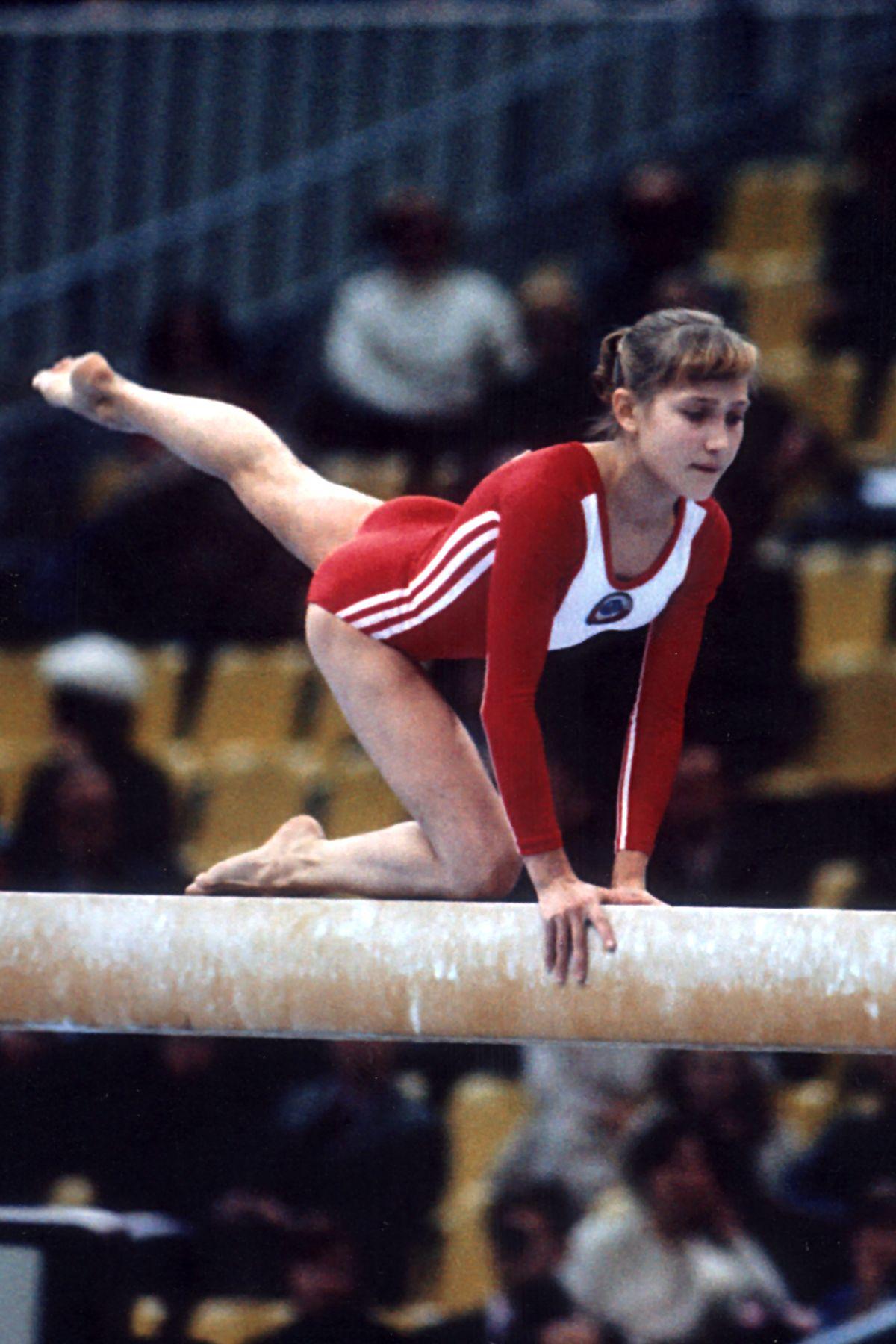 Elena Davydova - the absolute Olympic champion in gymnastics