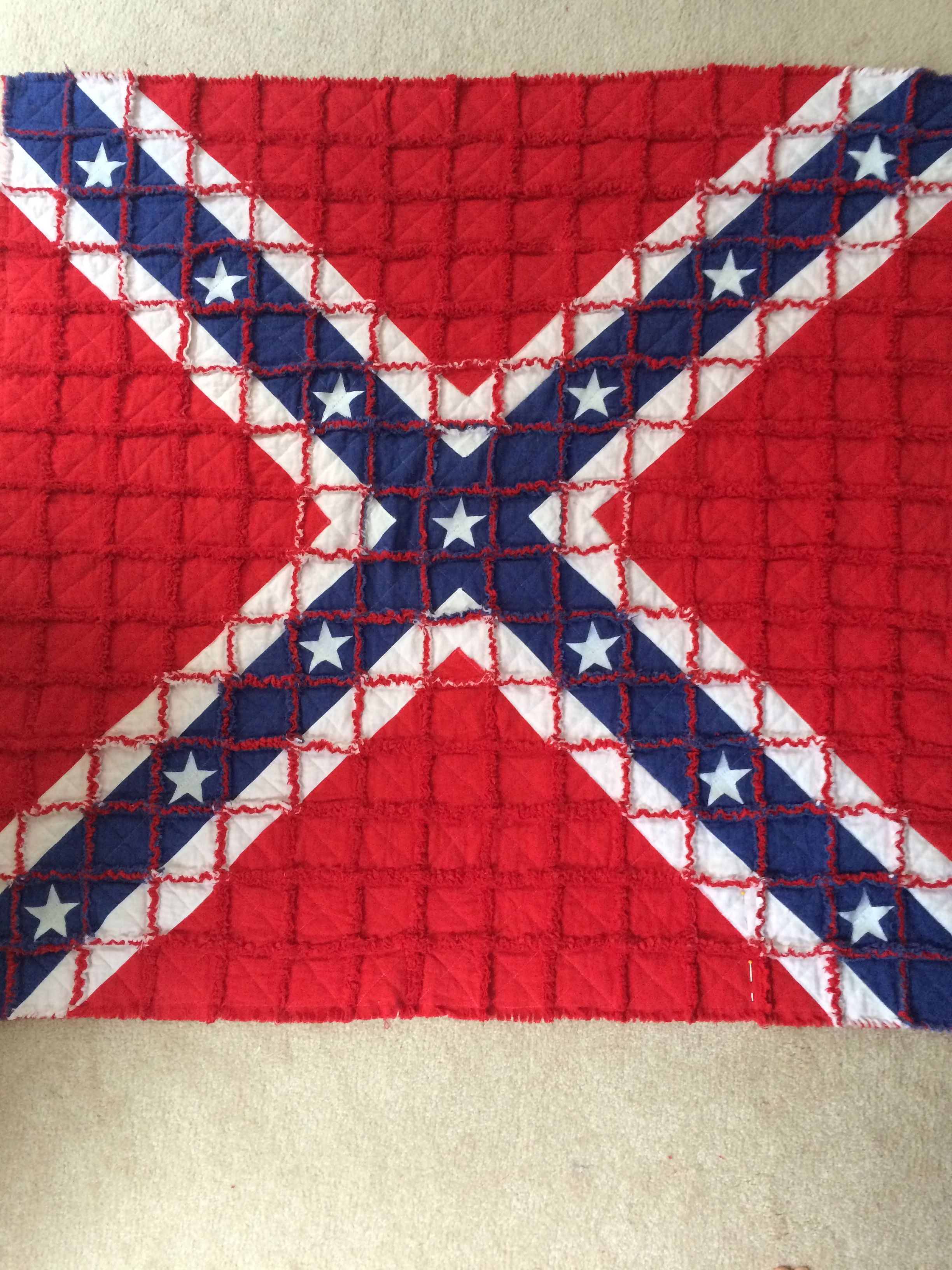 Pattern For Confederate Flag King Quilt Sewing Quilting