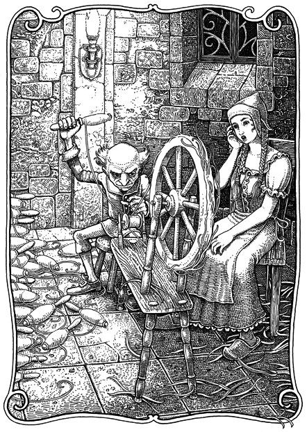 Tomislav tomic faery tales rumpelstiltskin illustration for Rumpelstiltskin coloring pages