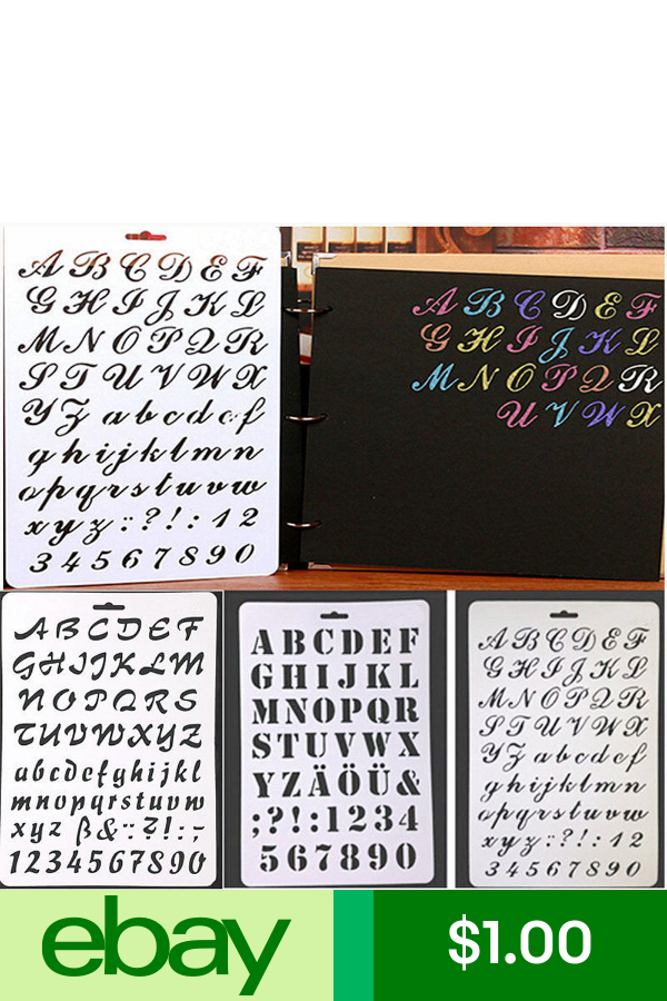 DIY Crafts Letter Alphabet Number Layering Stencils Scrapbooking Cards Painting