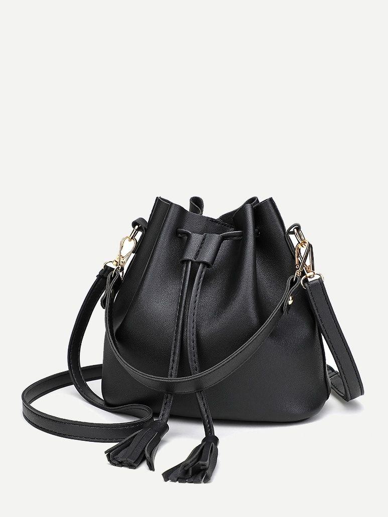 Tassel Decor Bucket Bag Bags Bucket Bag Tassels Decor