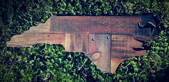 N.C Wood Pallet Cut Out by TwinCityPallets on Etsy