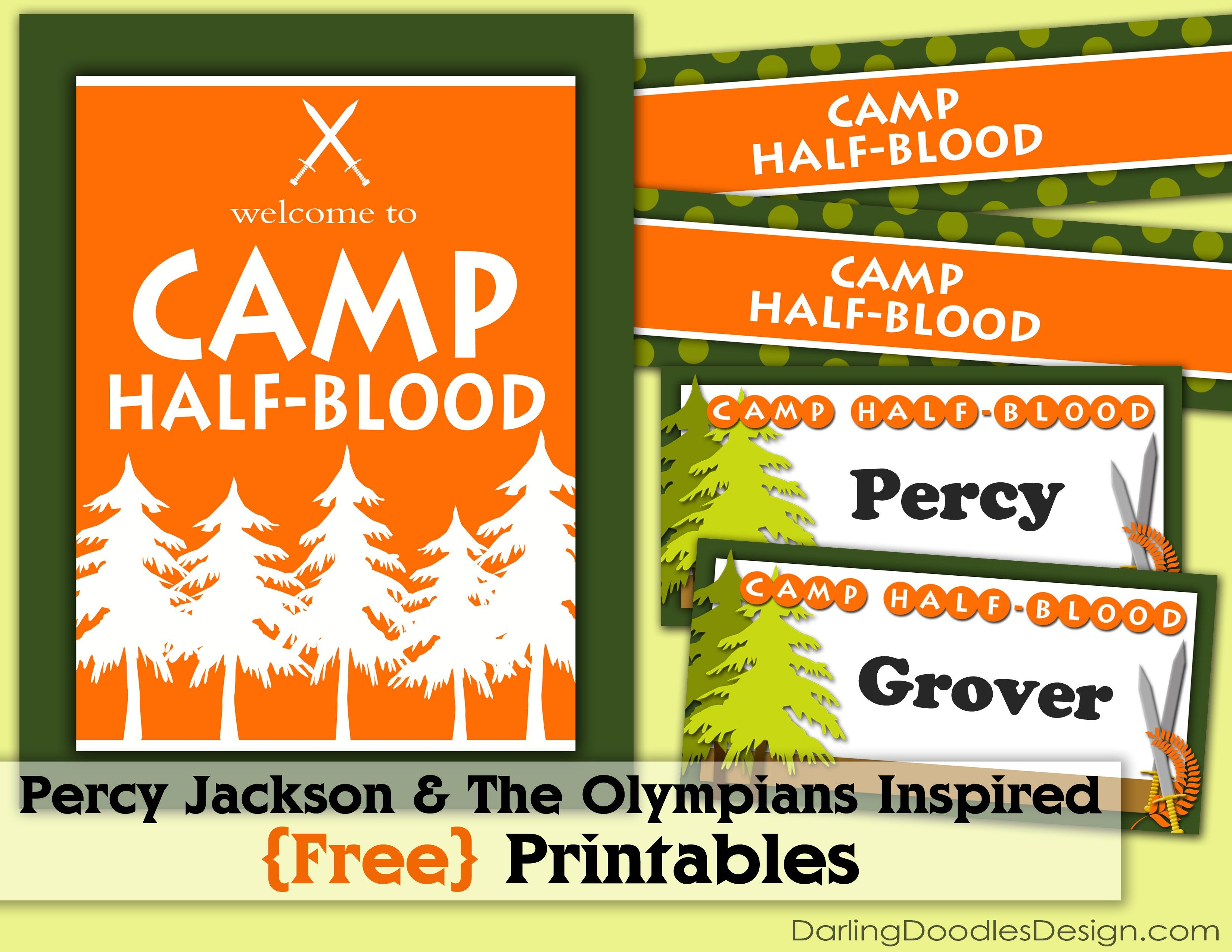Percy Jackson Amp The Olympians Inspired Free Printables