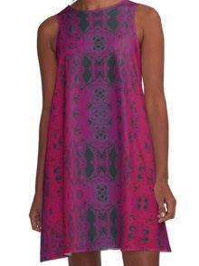 violet Robe trapèze