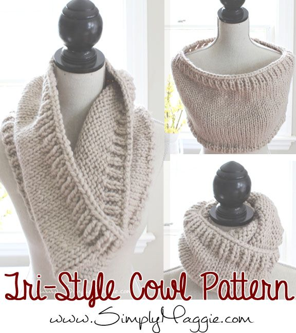 Chunky Tri-Style Knit Cowl Pattern (FREE!) | simplymaggie.com ...