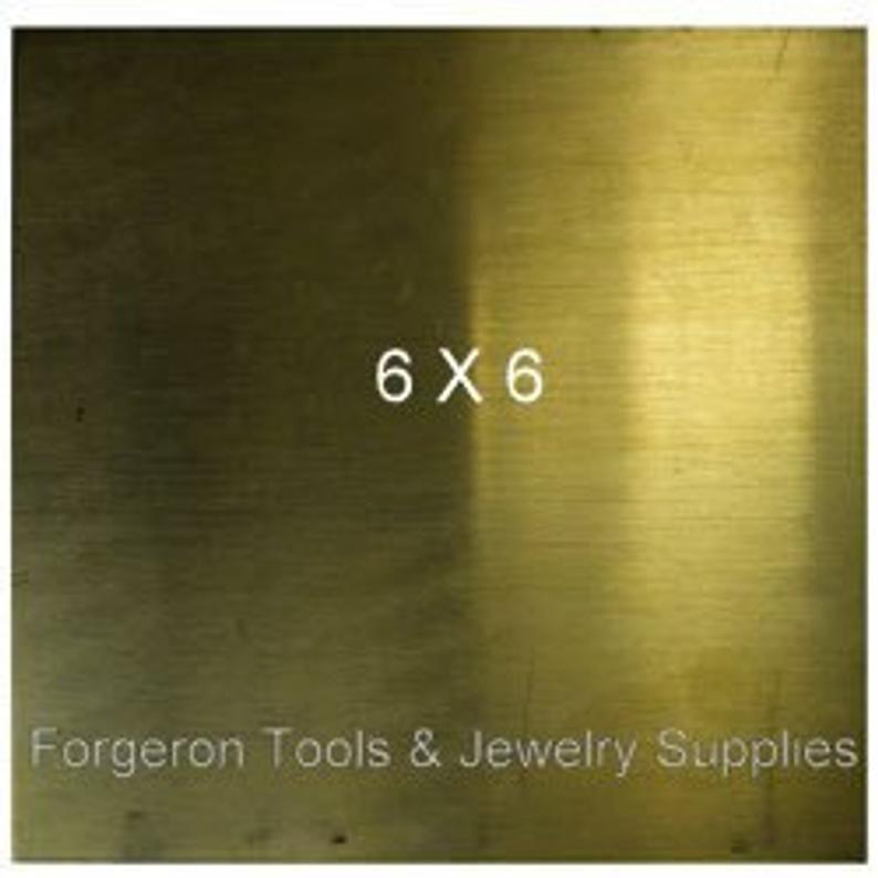 """Brass Sheet Plate .025/"""" 22 gauge 6/"""" x 8/"""""""