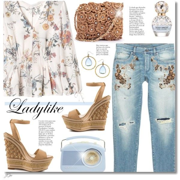 Ladylike by jgee67 on Polyvore featuring polyvore, fashion, style, Rebecca Taylor, Jessica Simpson, Liz Larios, Dolce&Gabbana, Marc Jacobs, clothing and polyvoreblogger