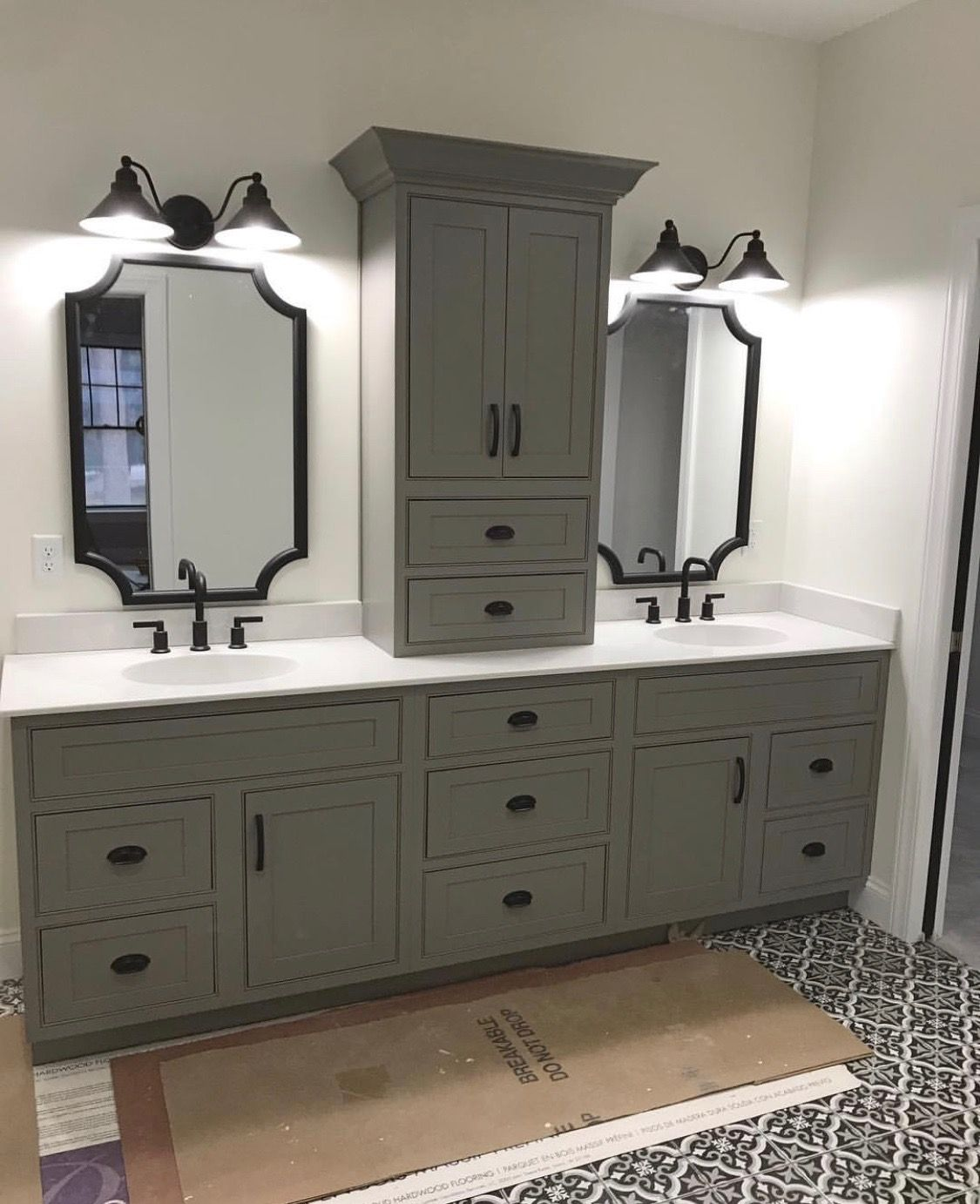 Farmhouse Double Sink Vanity.Pin By Building Bittersweet Knoll On Building Bittersweet