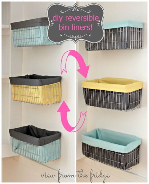 DIY Reversible Wire Bin Liner