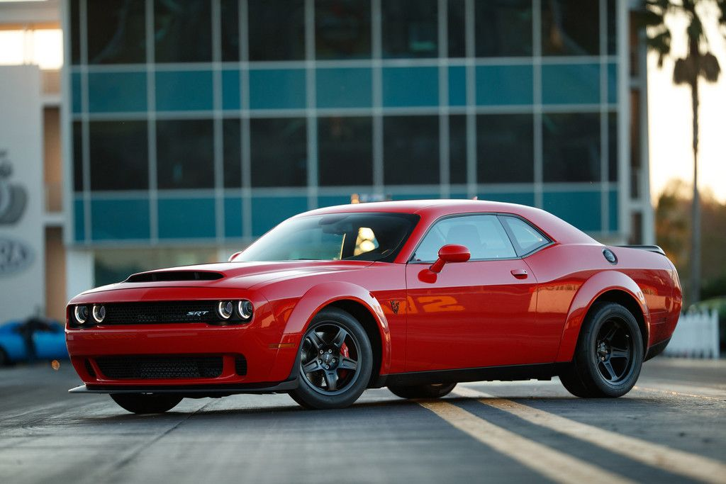 Dodge Challenger Srt Demon Side View Muscle Car