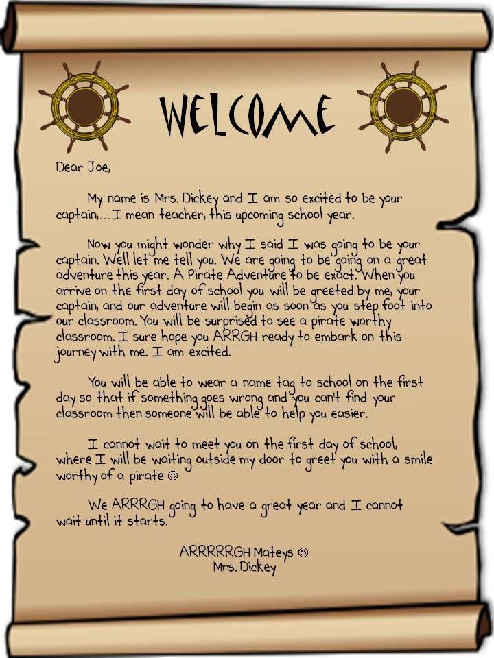 new teacher welcome letter