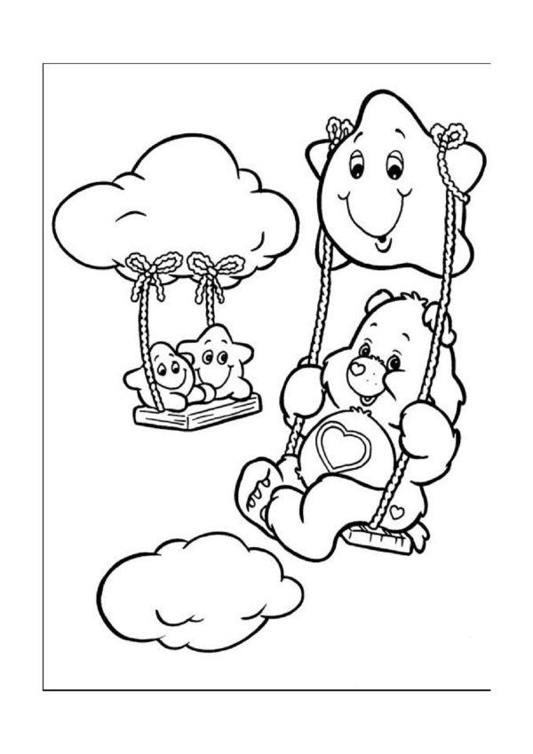 Eenvoudige Kleurplaten Troetelbeertjes.De Troetelbeertjes Kleurplaten Voor Kinderen Kleurplaat En