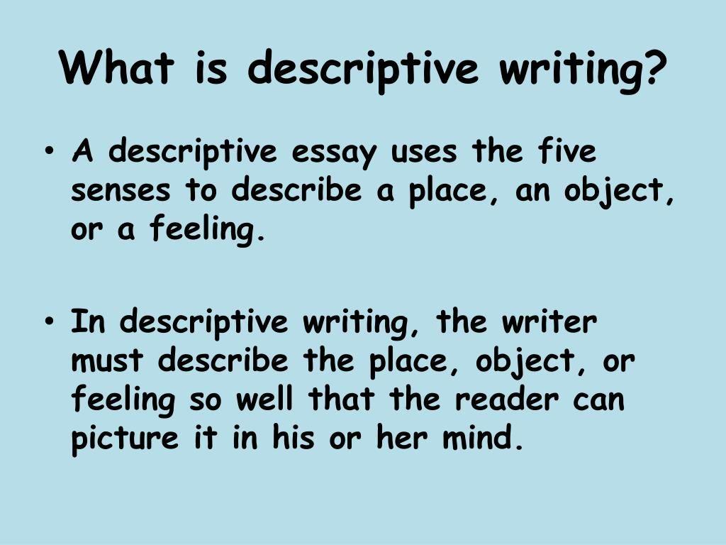 Descriptive Writing Definition Google Search Essay Define