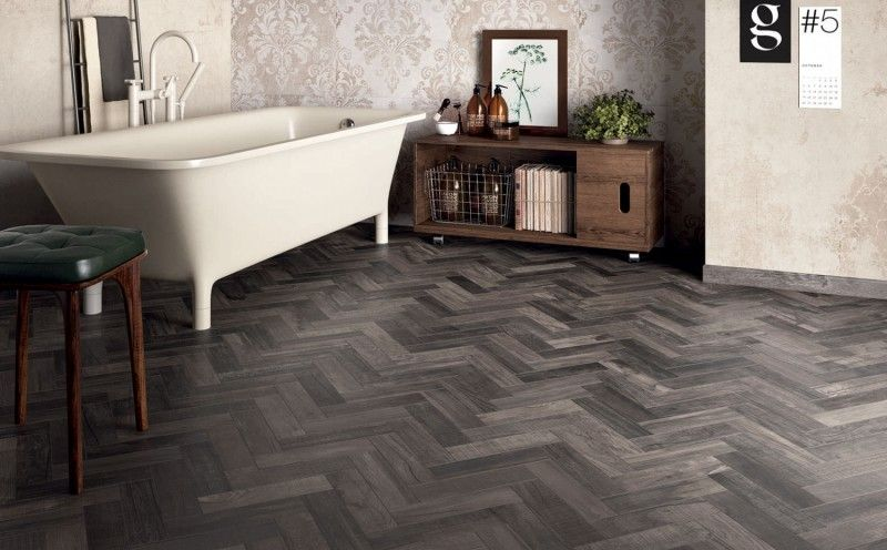 Dolphin Coal 8x48 Porcelain Tile In 2020 Wall And Floor Tiles Flooring Wood Look Tile