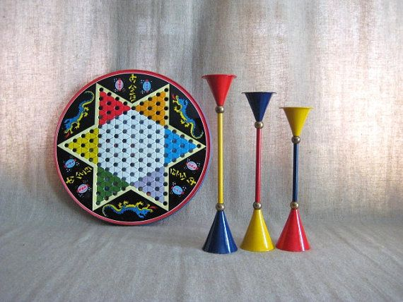 Three Retro Cool Candlesticks in Primary Colors by dewdropdaisies, $36.00