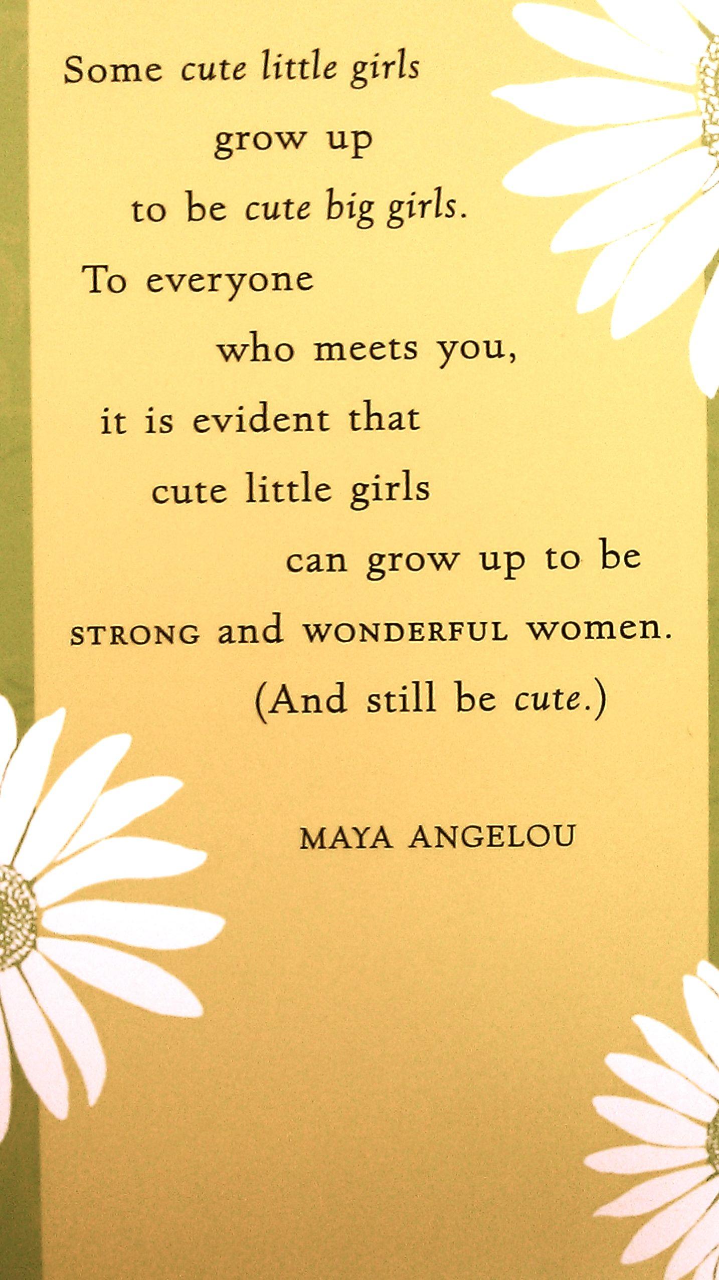 Still Cute Maya Angelou
