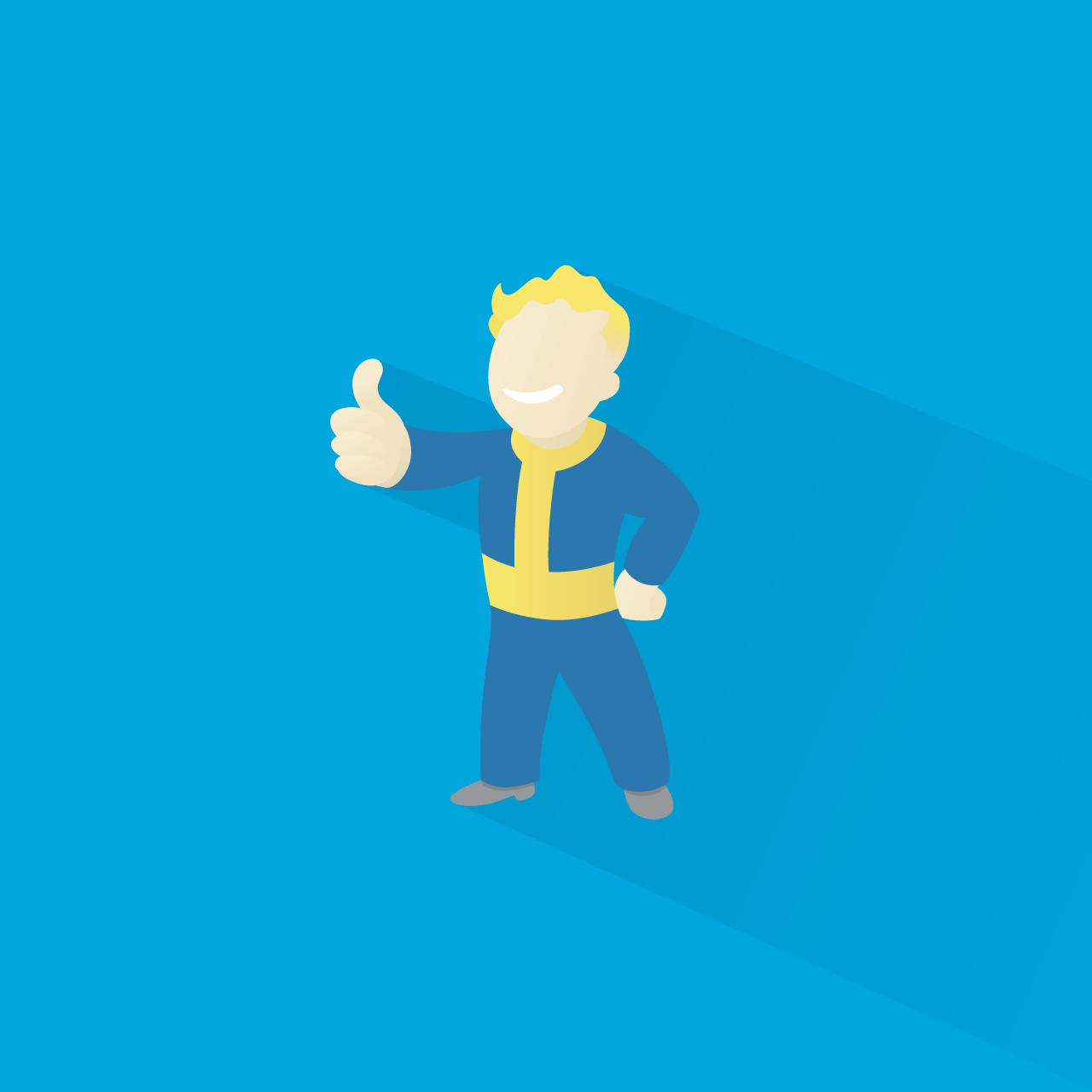 Thumbs Up For The Vault Boy Illustration By Brian Le Normand Www Brianlenormand Com Fallout Besthesda Bethesday Vaultboy Design Fla Fondo Pantalla