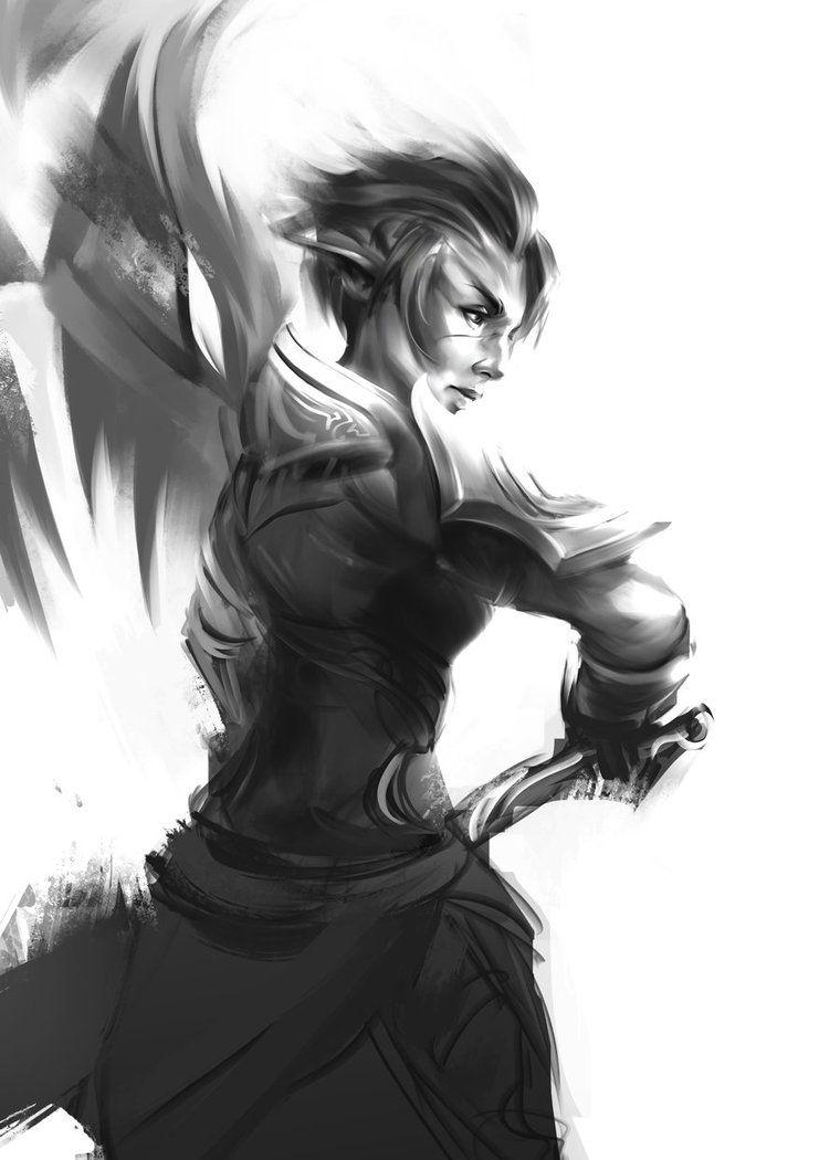 sylvari-sketch by h1fey