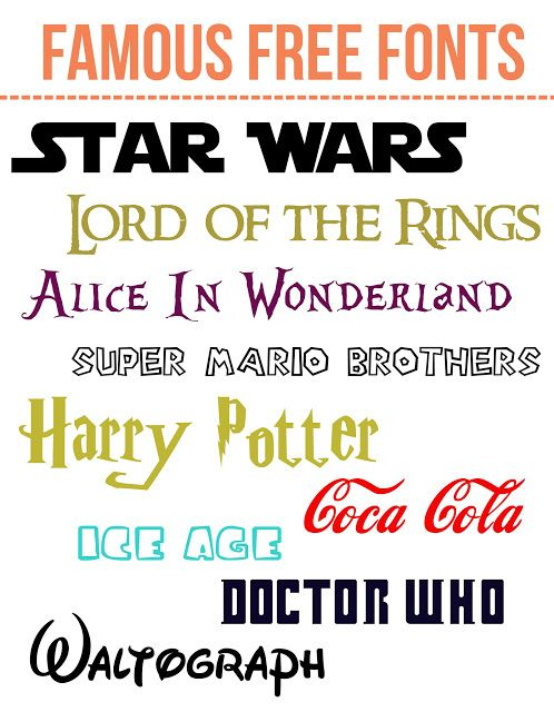 Free Famous Fonts Fonts Harry Potter And Lord - Birthday invitation fonts