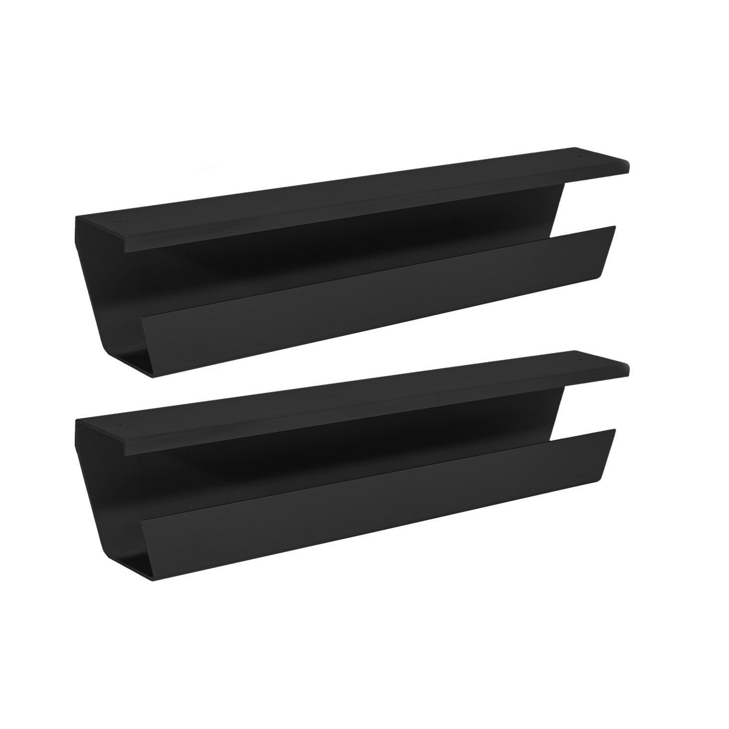 WireTamer Cable Management Tray (2 Pack, Black) | Cord-Management ...